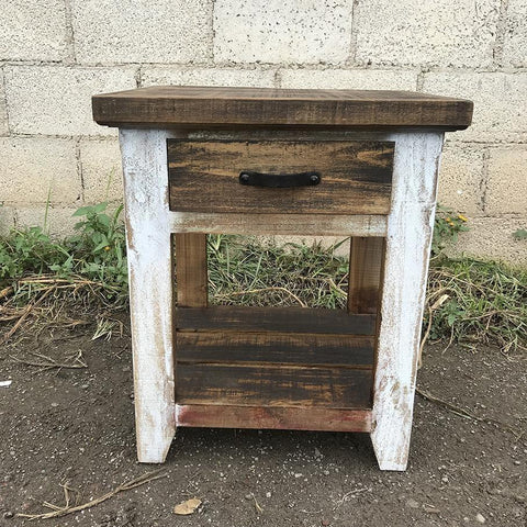 Tacoma rustic pine night stand