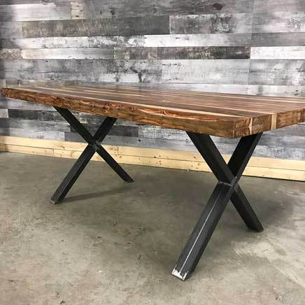 "72"" Zen Industrial Natural Indian Rosewood dining table"
