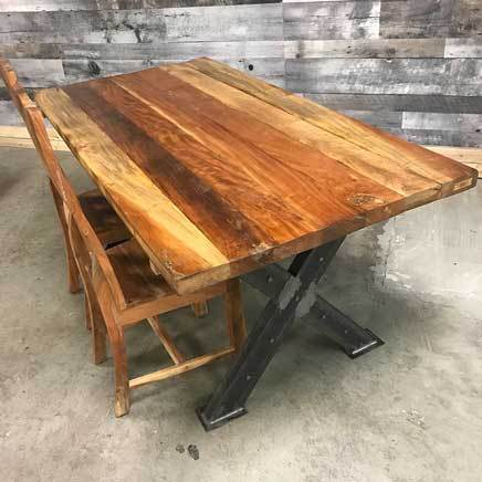 "71"" Leonardo Recycled wood Dining Table"