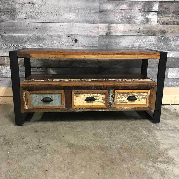 Unique Small industrial TV stand