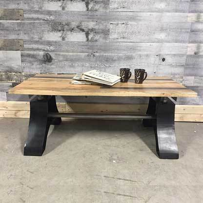 Neovintage industrial coffee table 48""