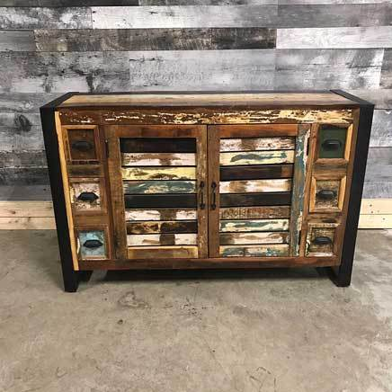 Industrial sideboard with 6 drawers perfect for your bathroom!