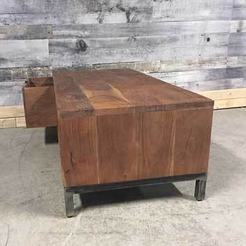 Kenya Industrial wooden coffee table