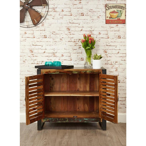 "Cancun Industrial 35"" reclaimed wood rustic buffet"
