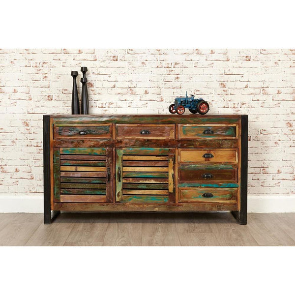 Exotic wood sideboard made from reclaimed wood