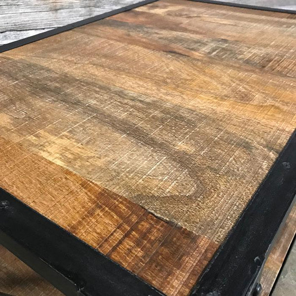 X Industrial rustic mango wood coffee table