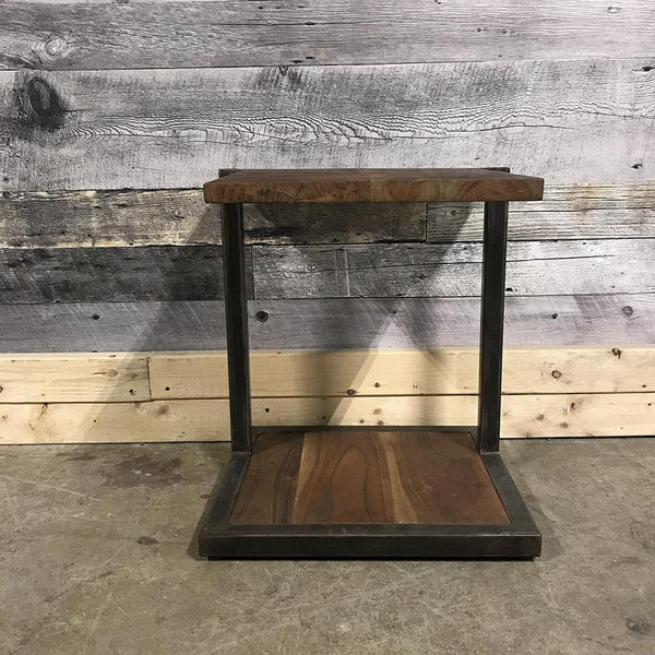 Kenya industrial rustic end table