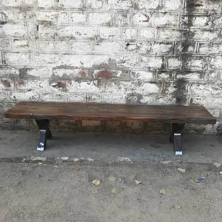 "84"" Zen Industrial Grey Indian Rosewood bench"