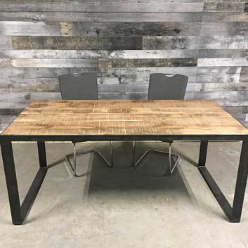 "71"" Sandstorm rustic Industrial dining table"