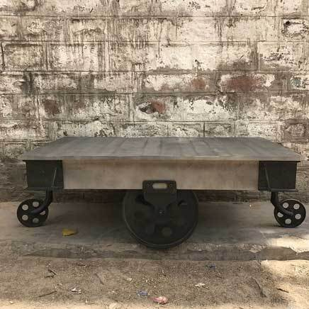 Industrial Railroad Old Cart Coffee Table 5tyle Furniture