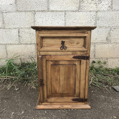 Mansion rustic pine night stand