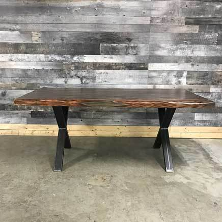 "72"" Zen Industrial Grey Indian Rosewood dining table"