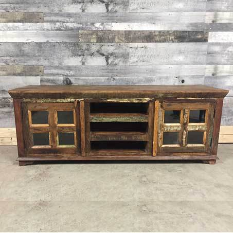 Rustic Reclaimed wood TV stand perfect for cottages