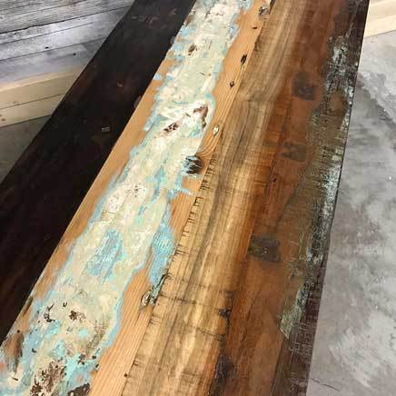 "Cancun Industrial 49"" reclaimed wood rustic buffet side board"