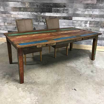 "84"" Reclaimed wood dining table"
