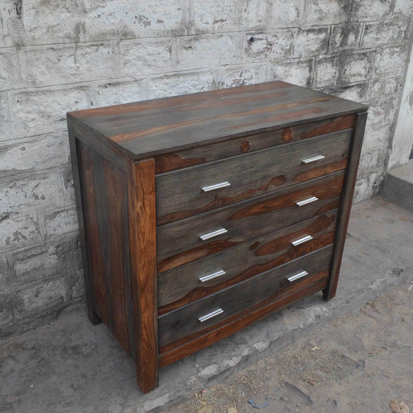 Zen Grey Rosewood Sheesham chest of drawers