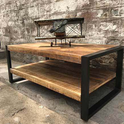 Watson Industrial mango wood coffee table