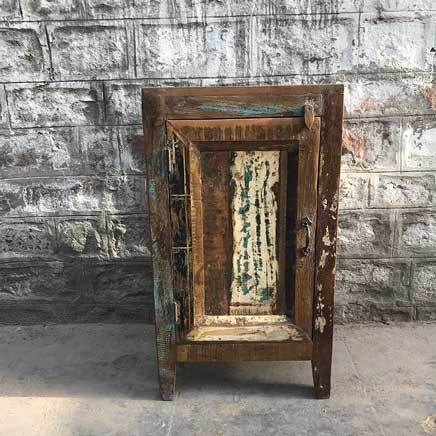Indana tall reclaimed wood storage cabinet
