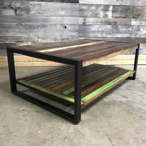 Unique large industrial coffee table sold in Canada