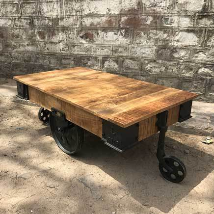 Industrial Factory Railroad cart coffee table