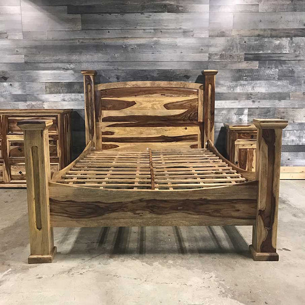 Montana Rustic Rosewood bed frame