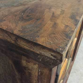 Indian reclaimed wood features