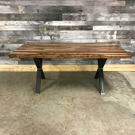"84"" Zen Industrial Natural Indian Rosewood dining table"