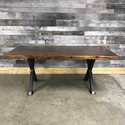 "84"" Zen Industrial Grey Indian Rosewood dining table"
