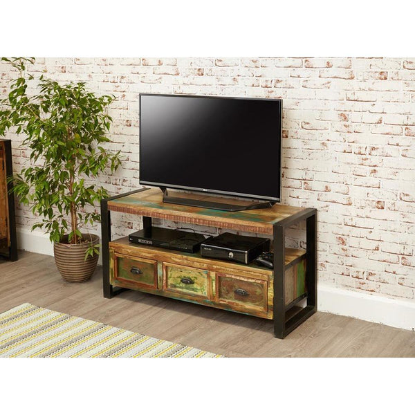 Interior design suggestion for small industrial media unit