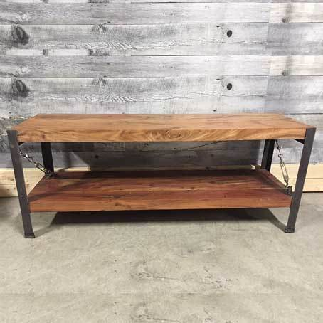 Monroe Industrial acacia TV Stand
