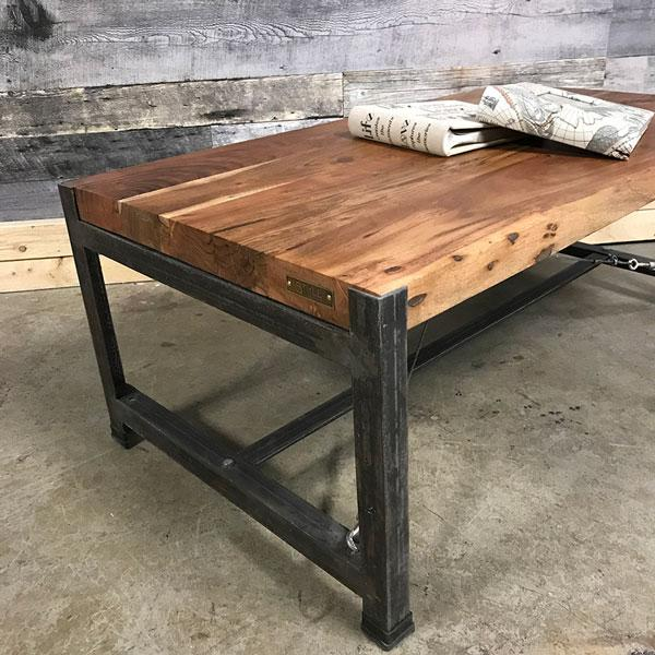 Monroe Industrial acacia coffee table