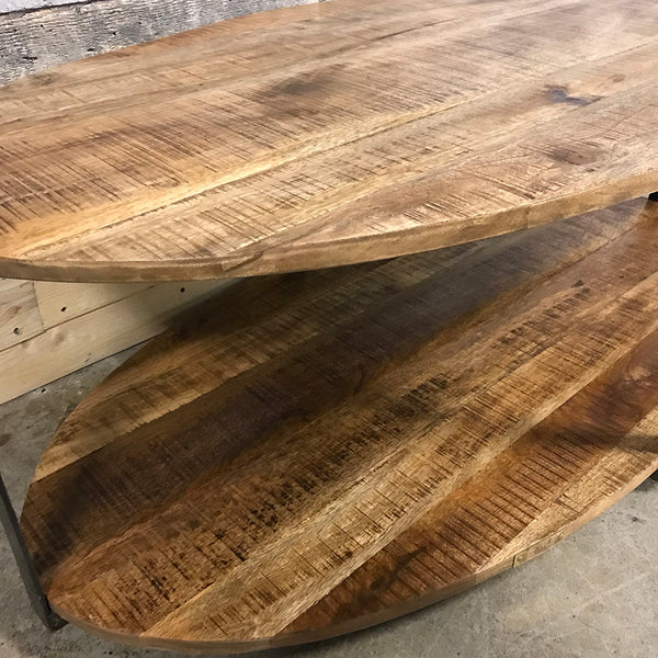 Rustic Oval industrial Anna coffee table
