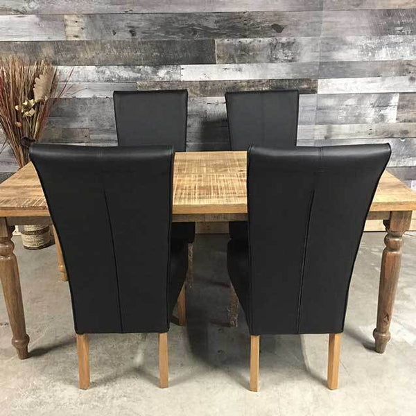 Country mango wood dining table