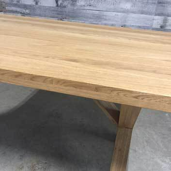 "71"" X-Factor Solid oak dining table"