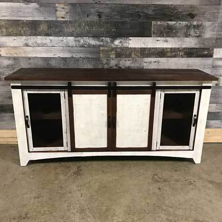 9f5539d275f5 Anton Sliding barn door TV stand White 72 inch