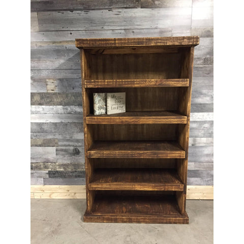 Barn Wood Looking Rustic Pine Bookcase