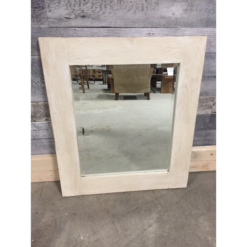 Dakota Antique White Bathroom Large Mirror