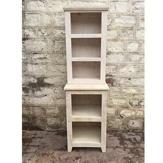 Dakota Antique White Freestanding Bathroom Storage Shelf
