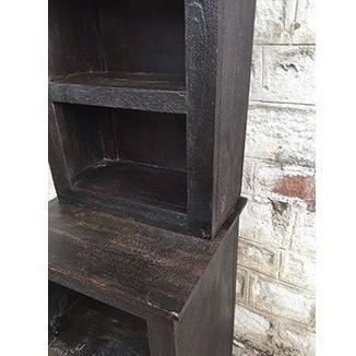 Dakota Dark Freestanding Bathroom Storage Shelf Cubby