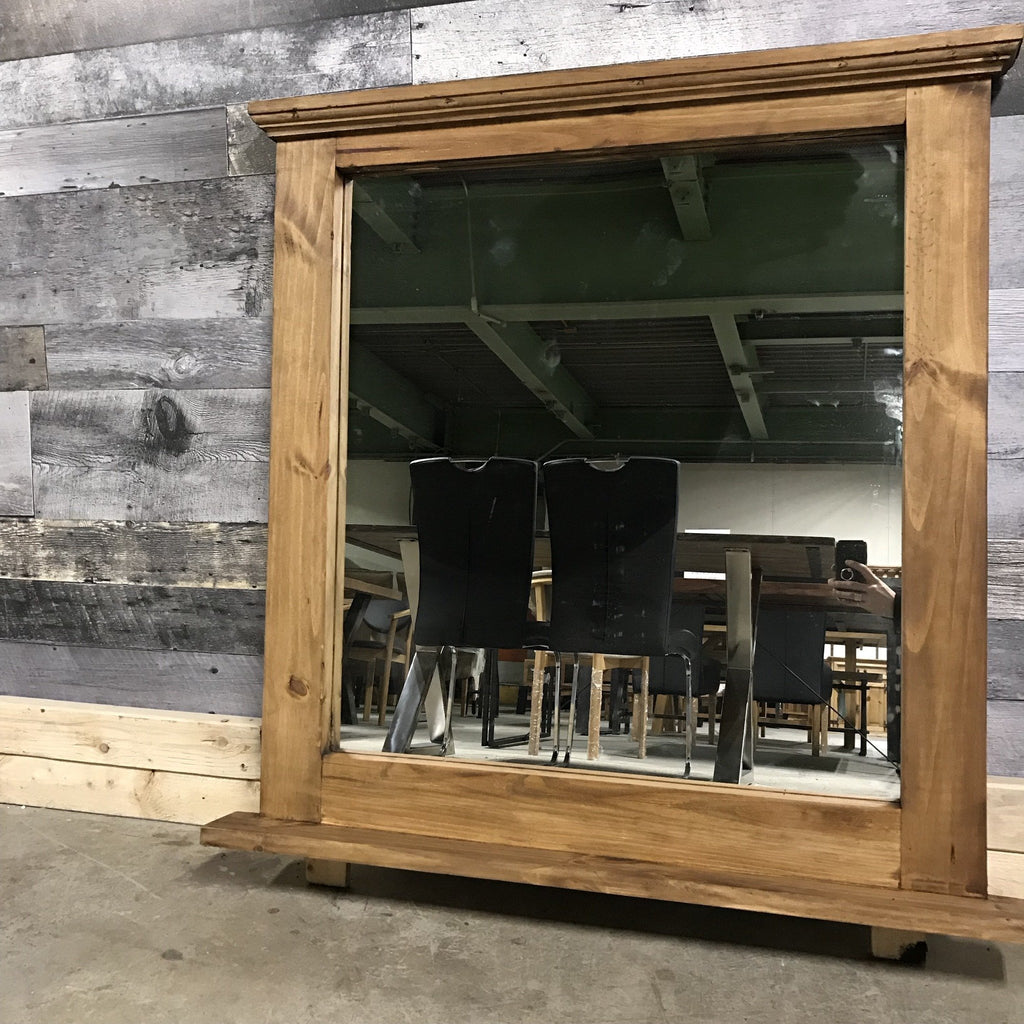 Rustic Pine Mansion Mirror