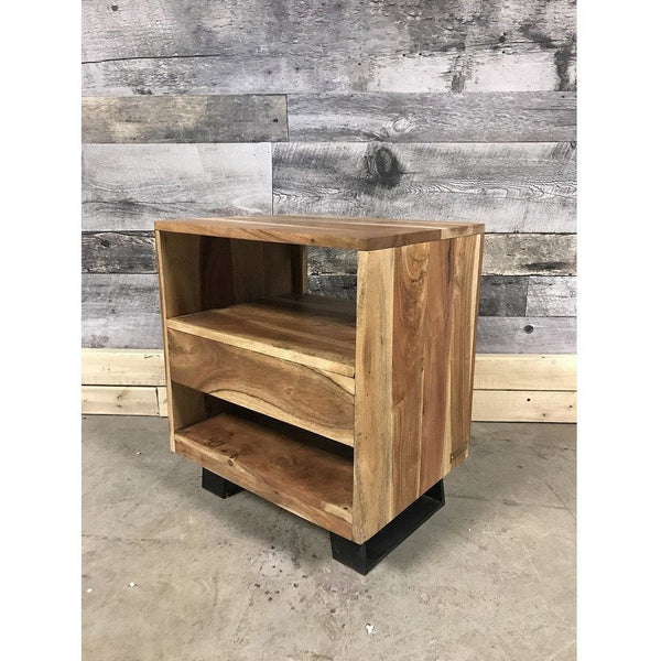 Jungle Industrial Acacia Night Stand