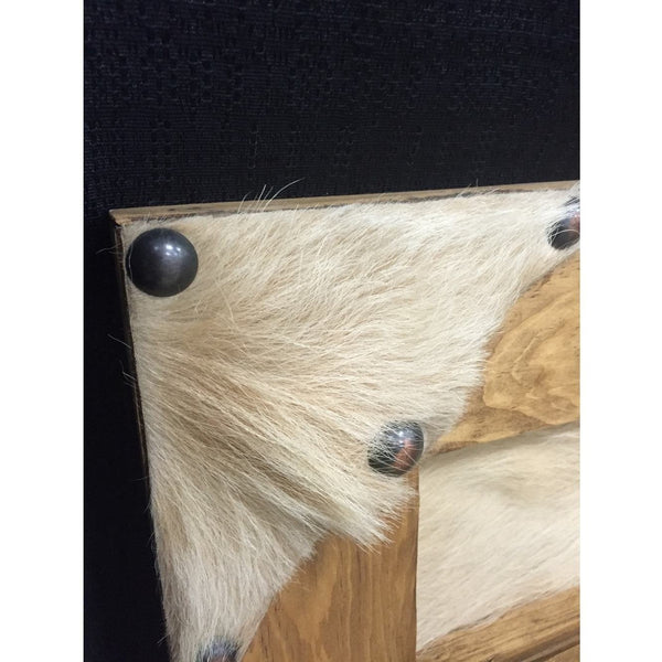 Large Rustic Pine Cowhide Buckle Holder