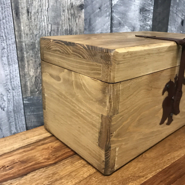 Large Rustic Pine Jewelry Box