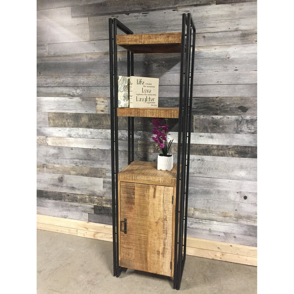Machu Industrial Mango Wood Bookcase
