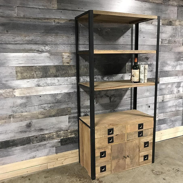 Maddox Rustic Industrial Bookcase