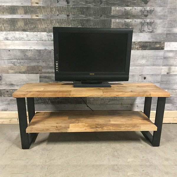 Industrial mango wood Tv stand open shelving