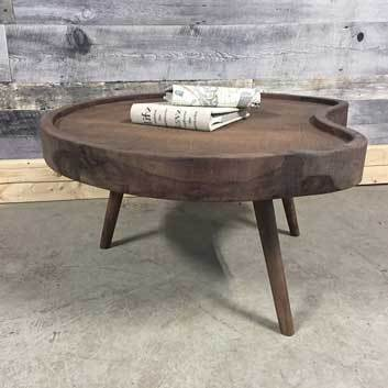 Martini solid wood designer coffee table