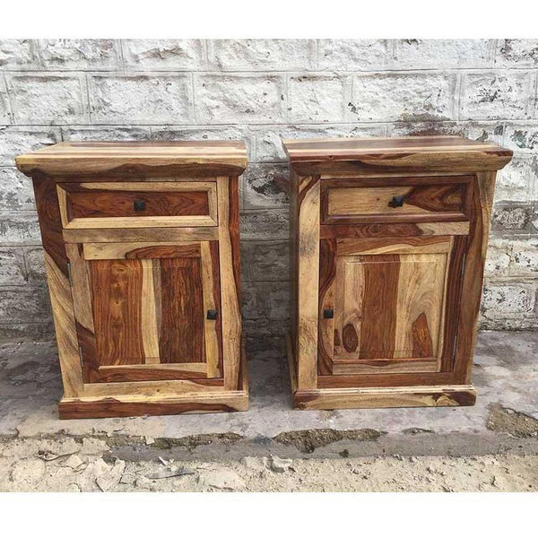 Montana Rustic Rosewood Night Stand With Door