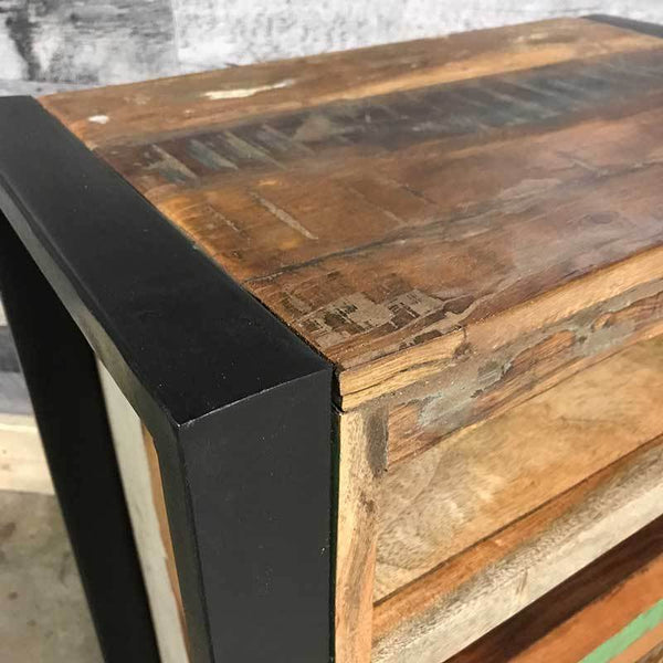 Metal and wood industrial furniture