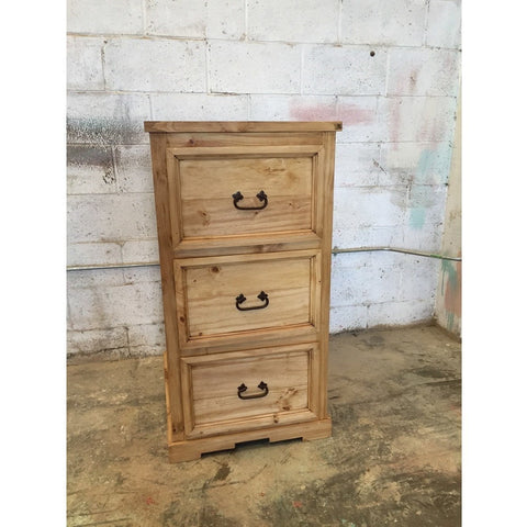 Rustic Mexican Pine Chunky Filling Cabinets
